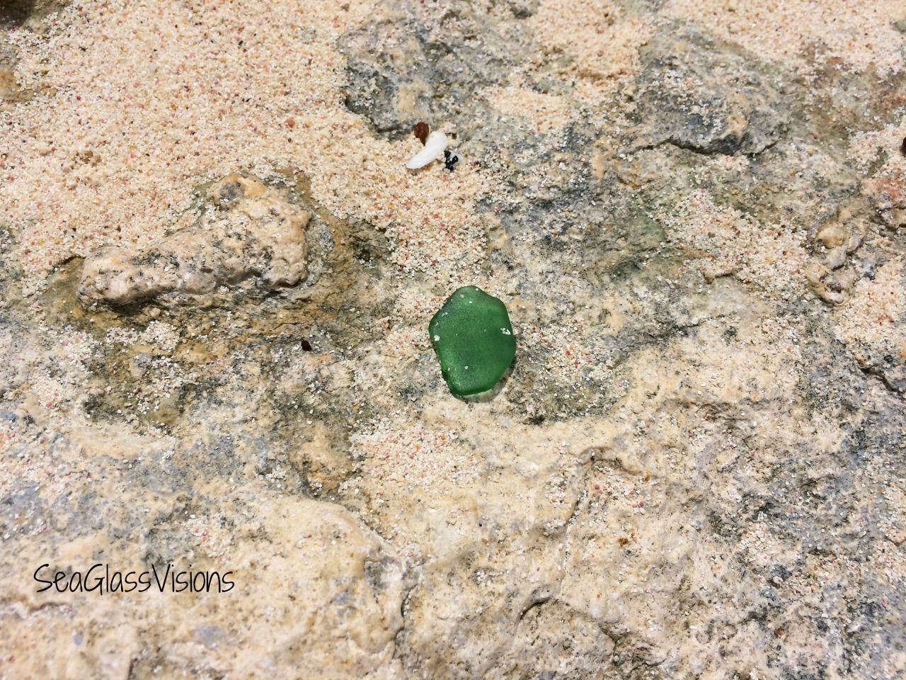 Anguilla sea glass find in 2017