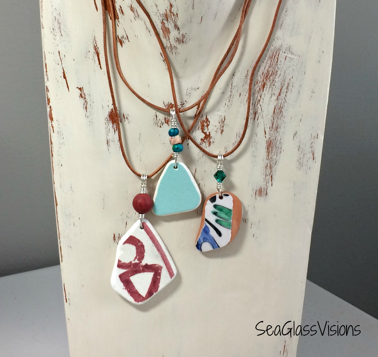 Greek Sea Pottery Jewelry by SeaGlassVisions