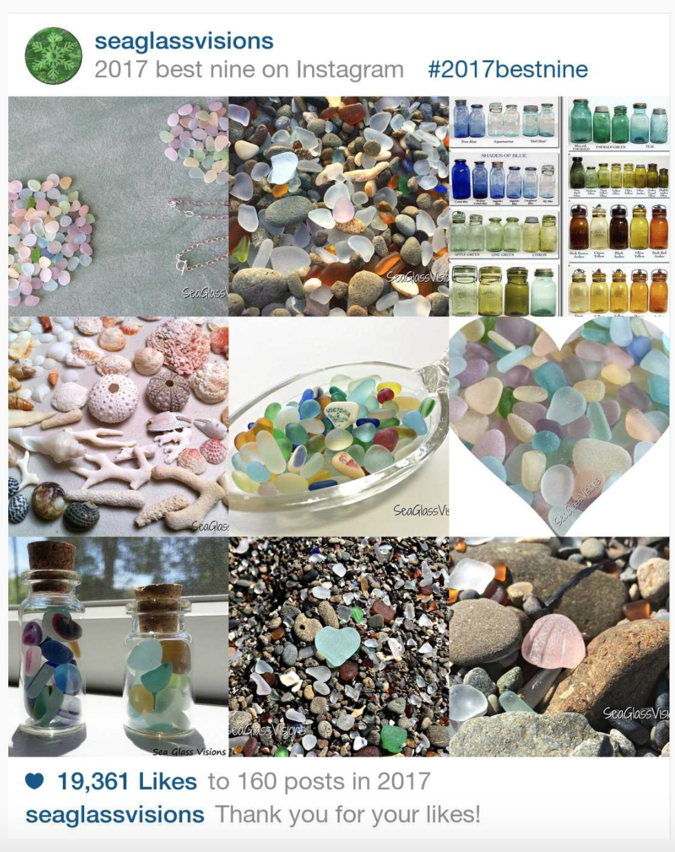 2017 Best Nine on Instagram for Sea Glass Visions