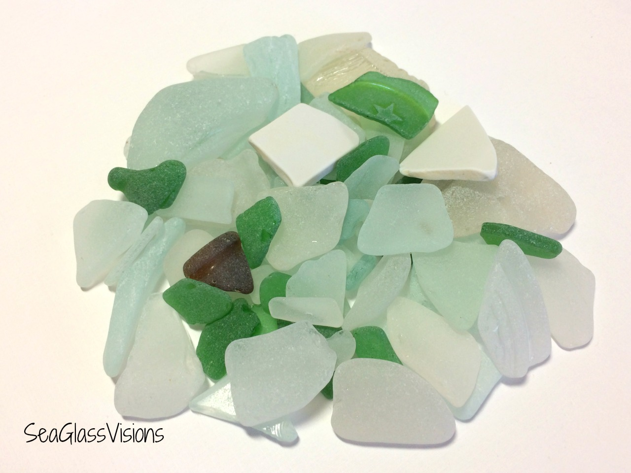 Lovely sea glass found on a beach behind Akrogiali Restaurant in Sounio, Greece