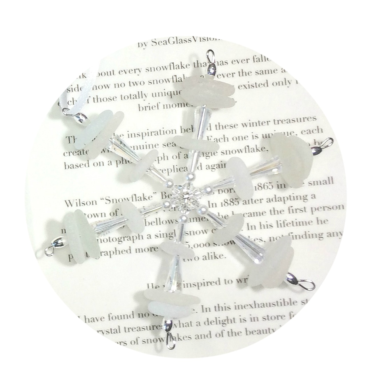Sea Glass Snowflake by Sea Glass Visions