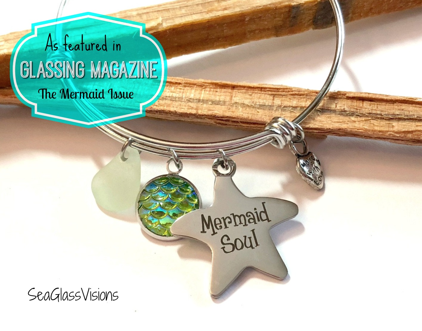 Mermaid Soul Bracelet with UV sea glass